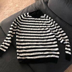Black & White Striped Sweater